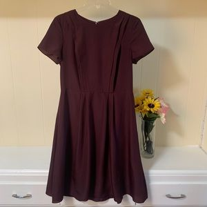 Brooks Brothers burgundy dress womens sz 4